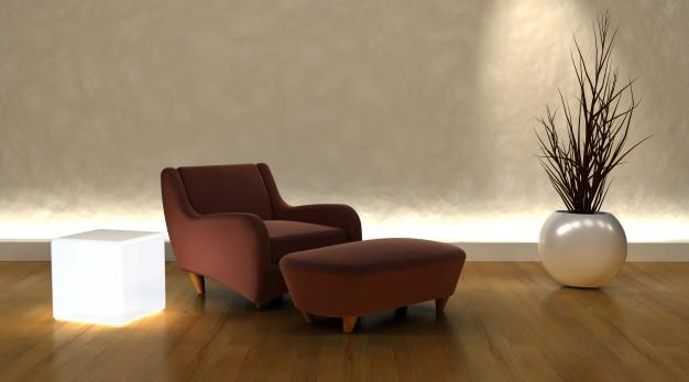 brune møbler